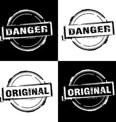 Danger Original Free rubber stamp vector image