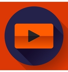 flat video play player icon botton vector image