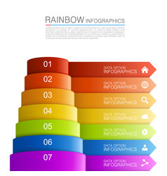 infographics pyramid vector image