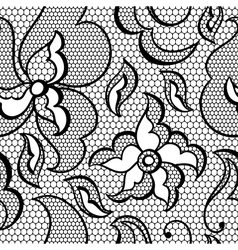Lace fabric seamless pattern with abstract flowers vector image vector image