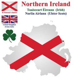 Northern Ireland Flag vector image vector image