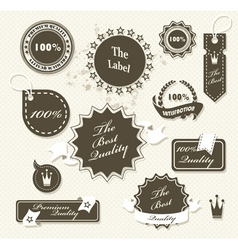 Set of vintage retro premium quality badges and vector image