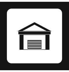 Warehouse building icon simple style vector image vector image