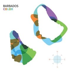Abstract color map of Barbados vector image vector image