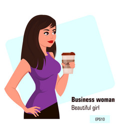 character beautiful business woman 16 vector image vector image