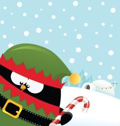Elf Penguin vector image vector image