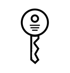 line security key icon to web protection vector image