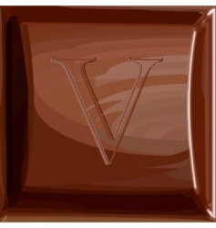 one letter of chocolate alphabet vector image