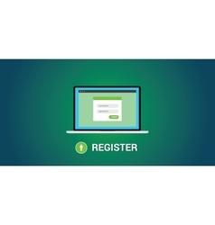 online registration concept vector image