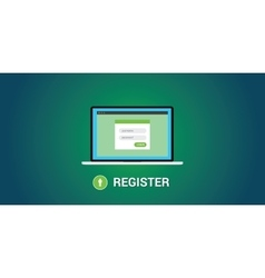 online registration concept vector image vector image