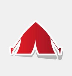 tourist tent sign new year reddish icon vector image
