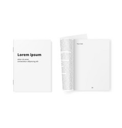 white clean paper journal ready for your text vector image