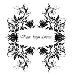 frame of floral pattern vector image vector image