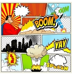 High detail mock-up of typical comic book vector image vector image