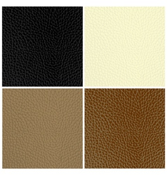 leather textures vector image vector image