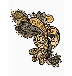 paisley design element vector image vector image