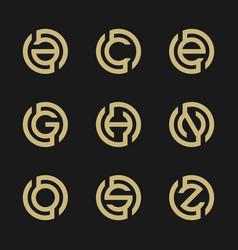 Set of modern letter logo design vector