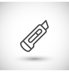 Stationery knife line icon vector image