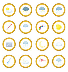Weather set icon circle vector