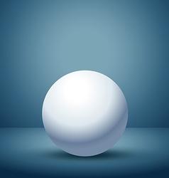 3d sphere in empty clean room vector