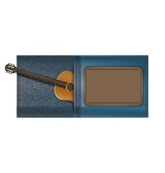 acoustic guitar in a pocket of jeans vector image