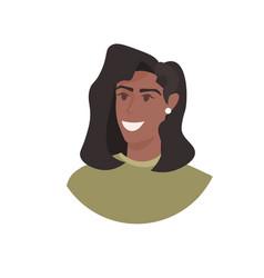African american woman head avatar beautiful human vector