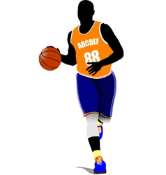 al 0815 basketball 01 vector image