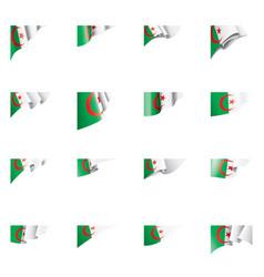 Algeria flag on a white vector