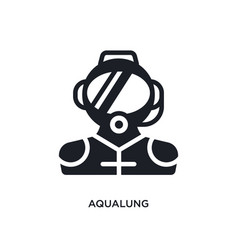 Aqualung isolated icon simple element from vector