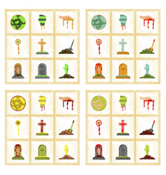 assembly flat shading style icons halloween full vector image