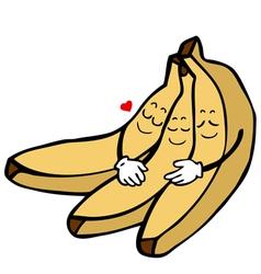 Banana characters vector image