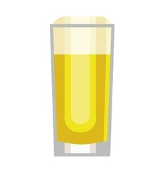 Beer cup glass vector image