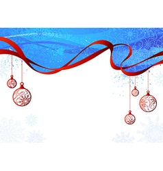 Blue and red Christmas background vector image