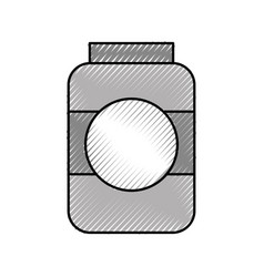 Bottle sausage market condiment ingredient icon vector