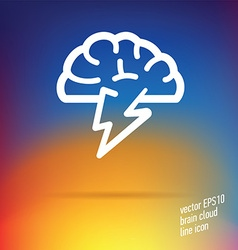 brain cloud thin line icon vector image
