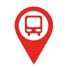 bus stop location pin isolated icon design vector image