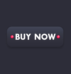 Buy now black button for web vector