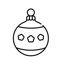 Christmas ball line icon concept sign outline vector