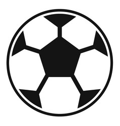 classic soccer ball icon simple style vector image