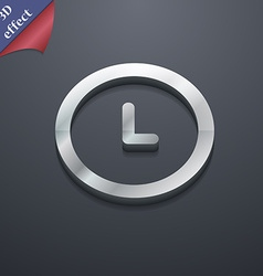 Clock icon symbol 3D style Trendy modern design vector