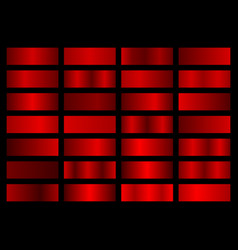 collection of red metallic gradients vector image