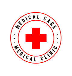 Cross red hospital medical sign vector