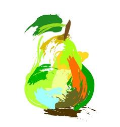Drawing pear vector image