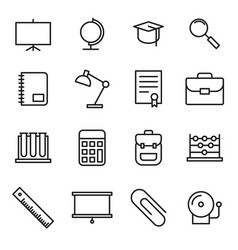Education school icon set vector