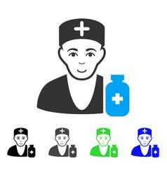 Enjoy apothecary doctor icon vector
