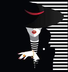 fashion woman in style pop art fashion art vector image