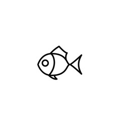 fish seafood icon vector image