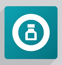 Flat drugs icon vector