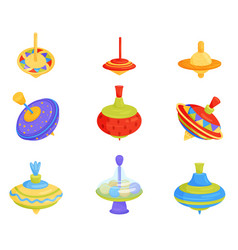 flat set of colorful children whirligig vector image