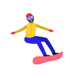 flat snowboarder man vector image